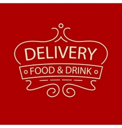logo for delivery food and drink restaurant vector image vector image