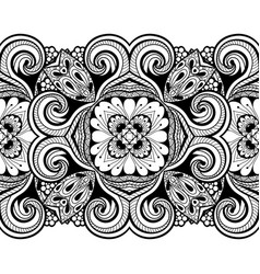 Seamless pattern with floral element vector