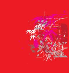 tropical jungle red vector image vector image