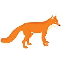 Cartoon red fox vector image