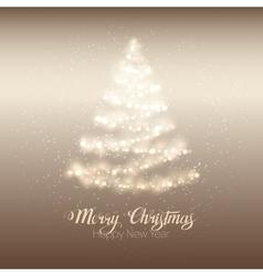 Christmas shining tree vector