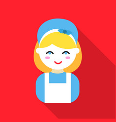 Housewife flat icon for web and vector