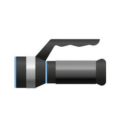 metallic flashlight luminescence equipment vector image