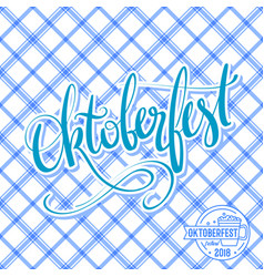 Oktoberfest poster with traditional pattern vector