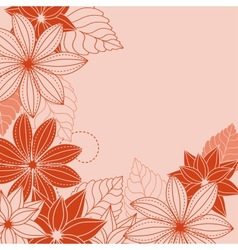 Abstrct floral background vector image vector image
