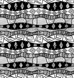 Black and white Tribal seamless pattern vector image vector image