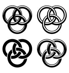 Celtic knot black white symbols vector image vector image