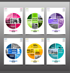poster flyer template circle abstract vector image