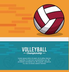 volleyball sport ball championship postcard vector image vector image