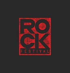 Word rock poster musical grunge mockup t-shirt vector image vector image