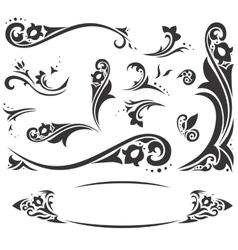 Arabic frames and design elements set vector image vector image