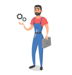 Conceptual of master or foreman with instruments vector image
