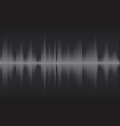 digital sound equalizer with white dots on dark vector image