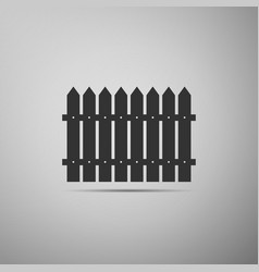 fence flat icon on grey background vector image vector image