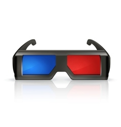 Plastic anaglyph glasses vector image vector image