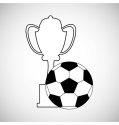Soccer design Football icon Colorfull vector image vector image