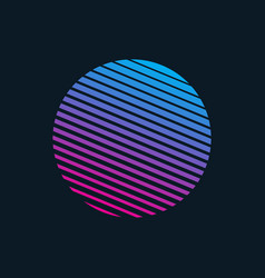 80s retro style striped shape vector