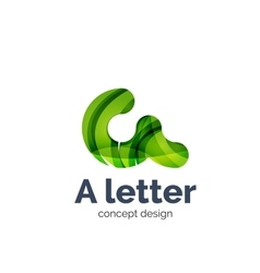 A letter alphabet round style logo business vector image