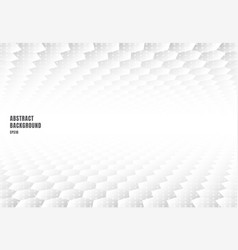 abstract white hexagons pattern perspective vector image