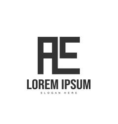 ae logo template design initial letter logo design vector image