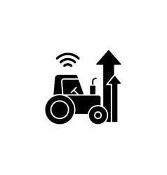 Agricultural modernization black glyph icon vector