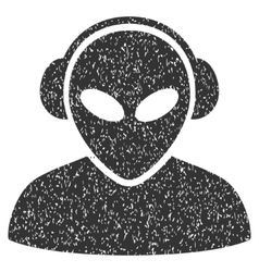 Alien Operator Grainy Texture Icon vector image