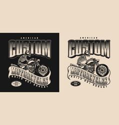 american custom motorcycle vintage badge vector image