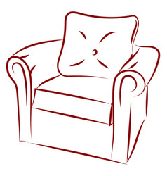 armchair drawing on white background vector image