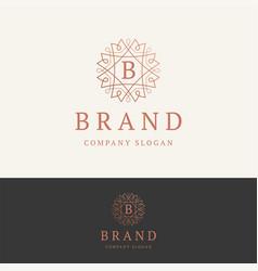 B brand logo vector