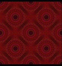 Bohemian red geometrical floral mandala ornament vector