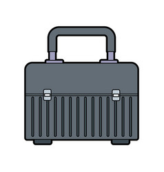 Box for carrying tools handle equipment closed vector