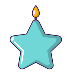 Candle star icon cartoon style vector