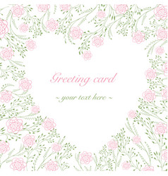 card template roses vector image