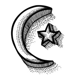 Cartoon image of islam symbol vector
