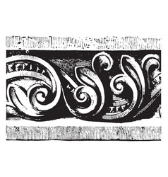 Carved band are from anhausen-an-dem-brienz vector