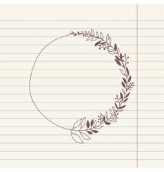 Chalk doodle sketch of wreath vector