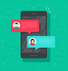 Chat messages notification on smartphone vector