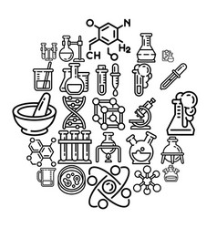 chemistry icon set outline style vector image
