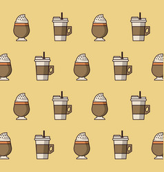 Coffee drinks background vector