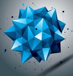 Complicated 3d sharp figure modern digital vector