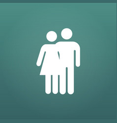 couple hug icon happy valentine day love isolated vector image
