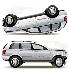 Crash car vector image