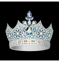 Decorative crown of silver vector