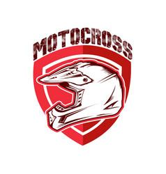 design motocross racing helmet vector image