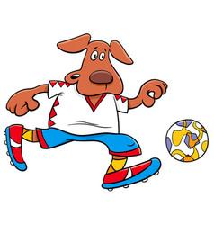 Dog football player cartoon character vector
