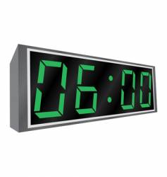 electronic alarm clock vector image