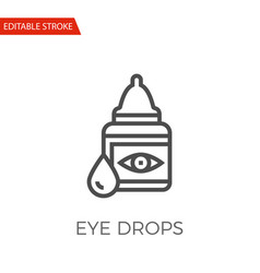 eye drops icon vector image