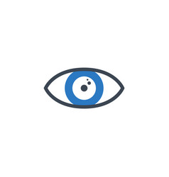 eye related glyph icon vector image
