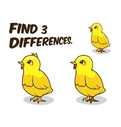 Find differences game chicken vector image