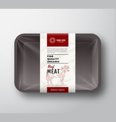 Fine quality beef meat abstract plastic vector